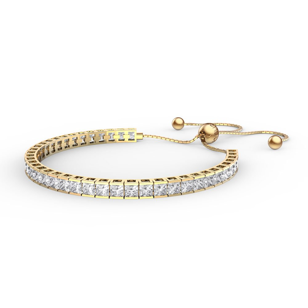Princess White Sapphire Gold Vermeil Fiji Friendship Tennis Bracelet