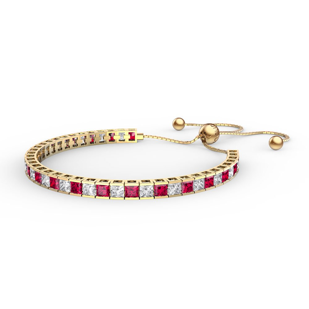 Princess Ruby 18ct Gold Vermeil Fiji Friendship Tennis Bracelet
