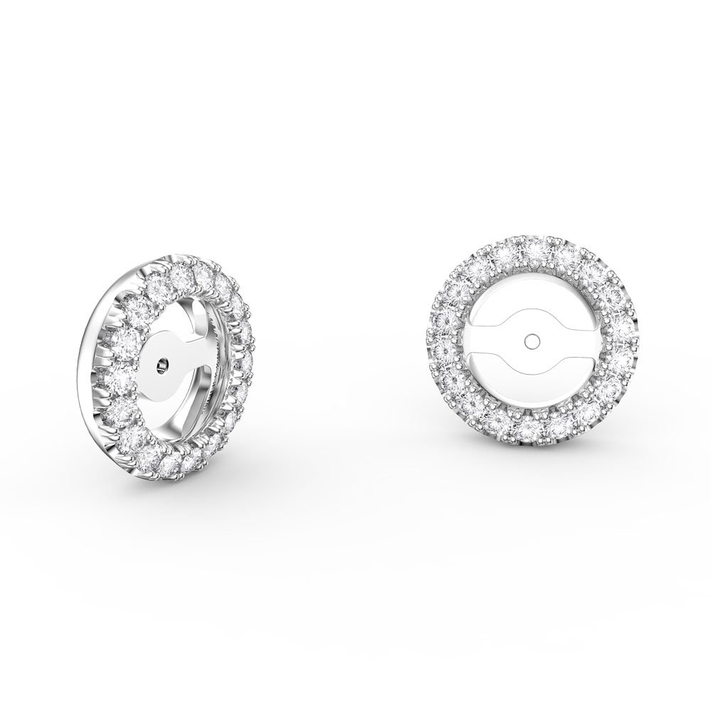 Fusion GH SI Diamond 18K White Gold Earring Halo Jackets