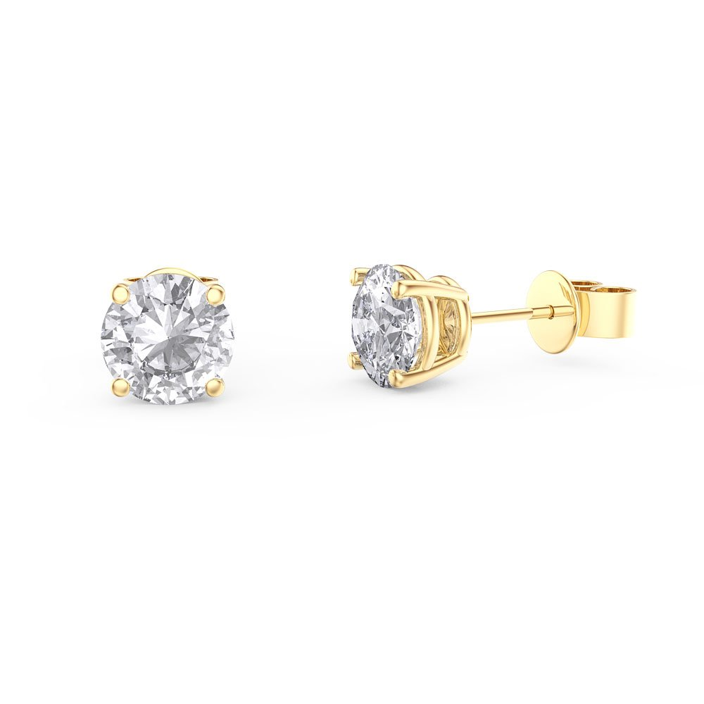 stud gold white nl in yg cut diamond jewelry earrings yellow studs set princess