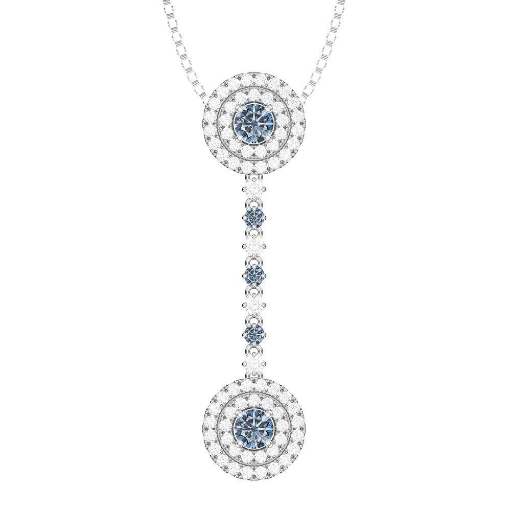 Fusion aquamarine and diamond halo 18ct white gold drop pendant set fusion aquamarine and diamond halo 18ct white gold drop pendant set aloadofball Image collections