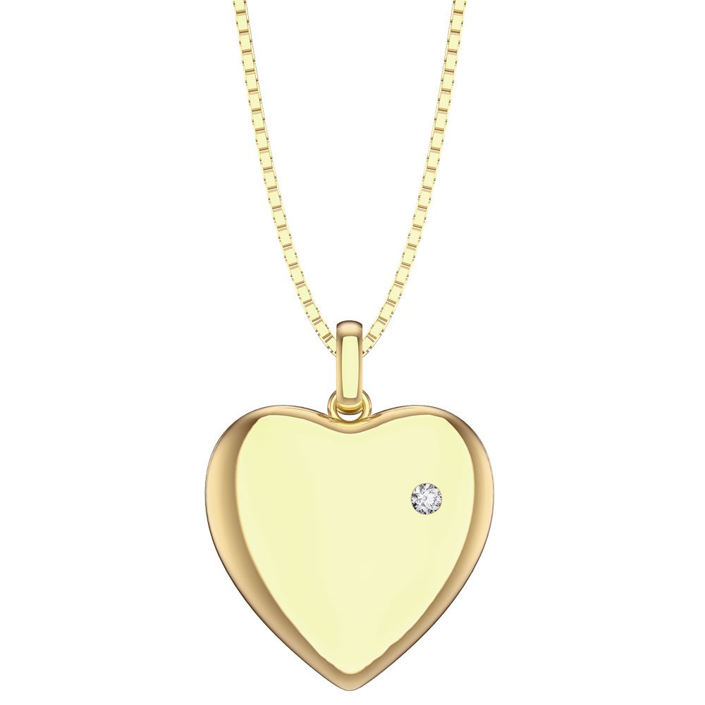 Charmisma White Sapphire 18ct Gold Vermeil Heart Locket