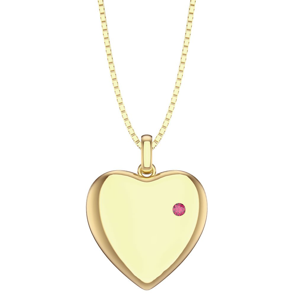 Charmisma Ruby 18K Gold Vermeil Heart Locket