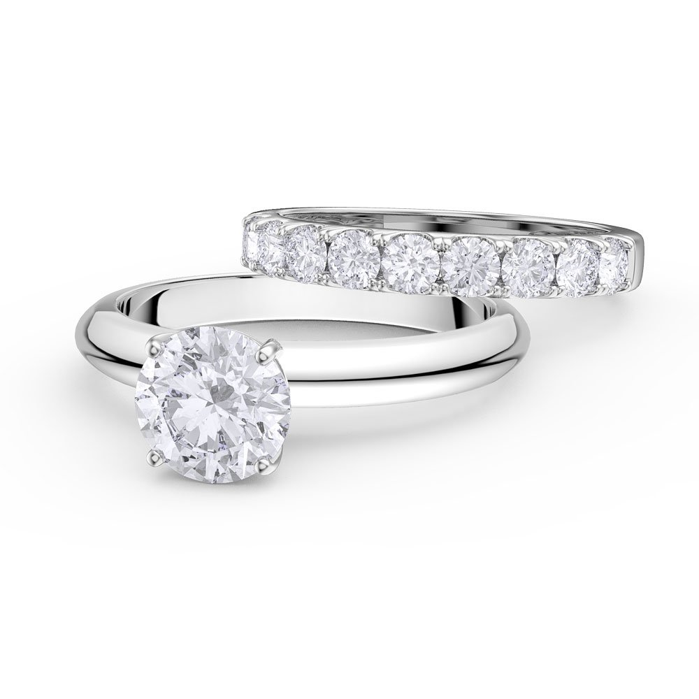 Unity 2ct Diamond 18ct White Gold Half Eternity Wedding ...