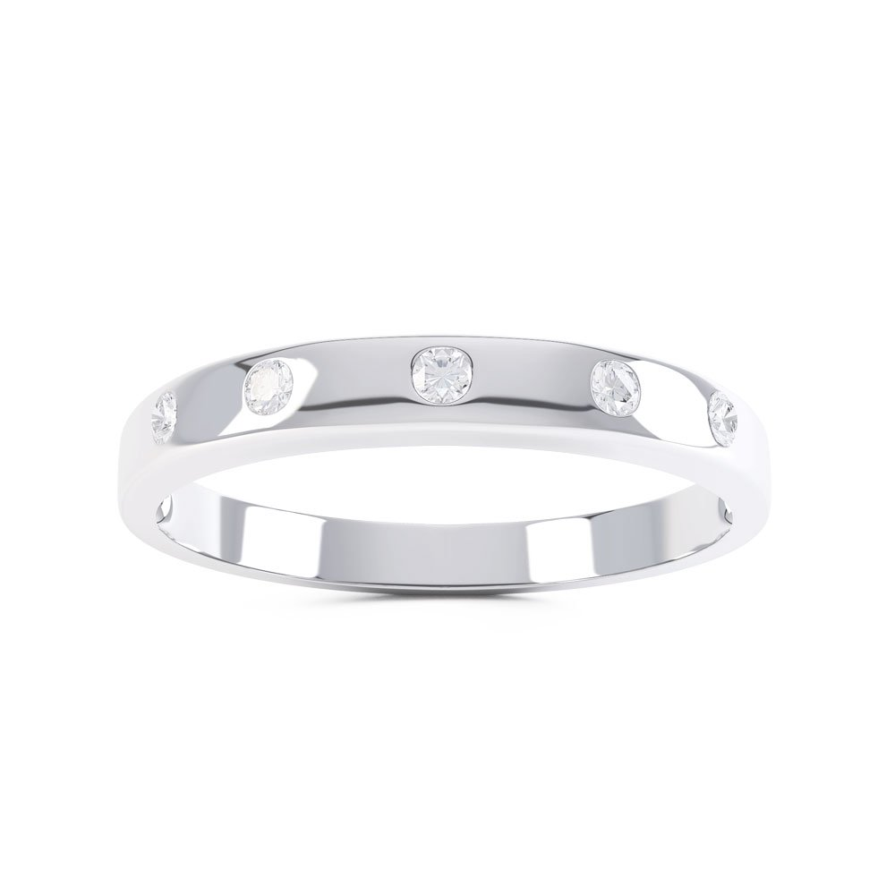 Unity Diamond 18ct White Gold Wedding Ring Band