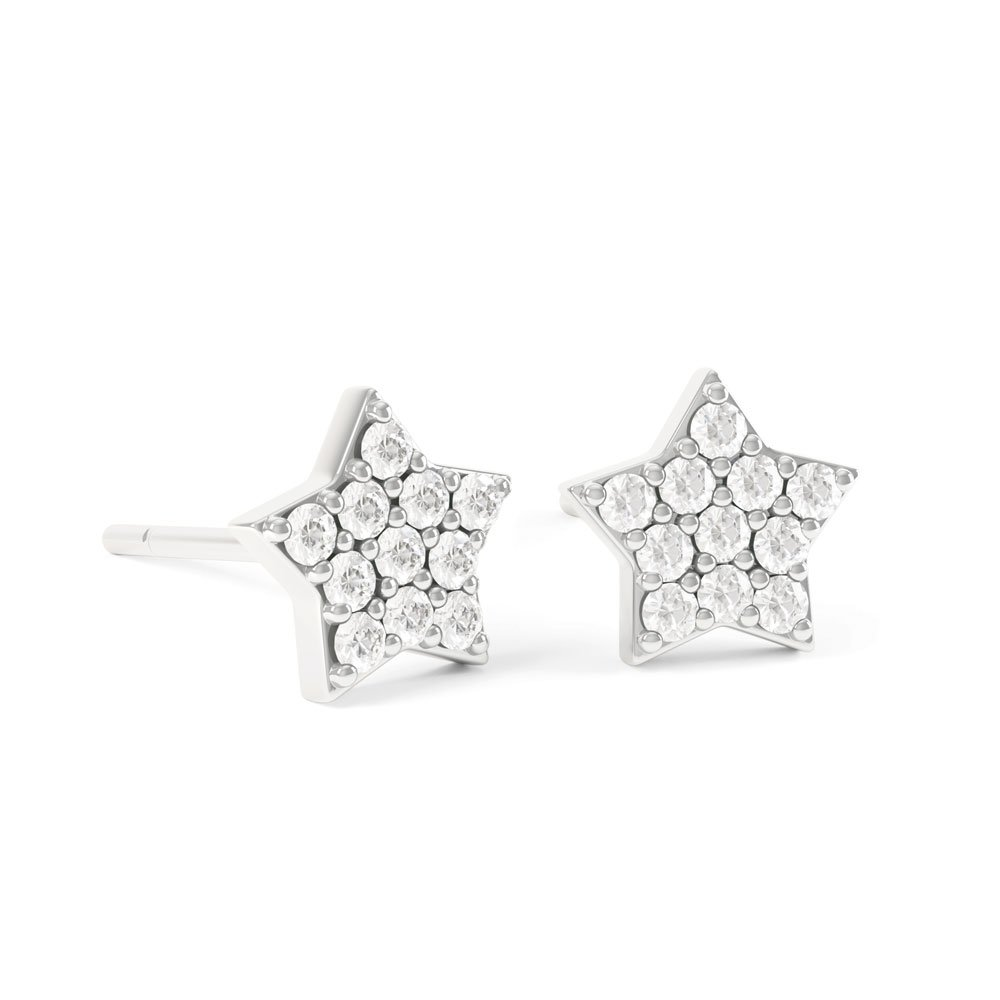 Charmisma Gh Si1 Diamond Star 18ct White Gold Stud Earrings