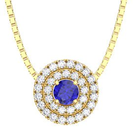 Fusion Sapphire and Diamond 18ct Yellow Gold Pendant
