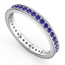 Promise Sapphire 18ct White Gold Channel Full Eternity Ring