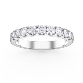 Promise 1ct G SI1 Diamond Platinum Half Eternity Ring 3mm Band
