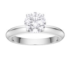 Unity 1ct White Sapphire 18ct White Gold Proposal Ring
