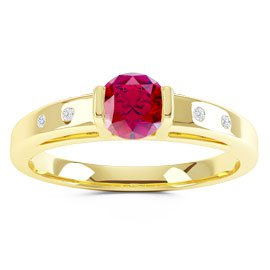 Unity Ruby 18ct Gold Vermeil Promise Ring