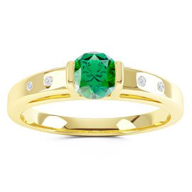 Unity Emerald 18ct Gold Vermeil Promise Ring