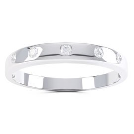 Unity White Sapphire 18ct White Gold Wedding Ring Band