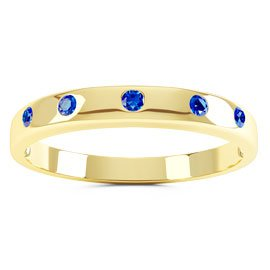 Unity Sapphire 18ct Gold Vermeil Promise Ring Band