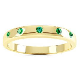 Unity Emerald 18ct Yellow Gold Wedding Ring Band