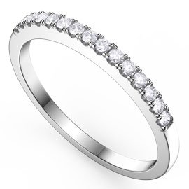 Promise White Sapphire 18ct White Gold Half Eternity Ring