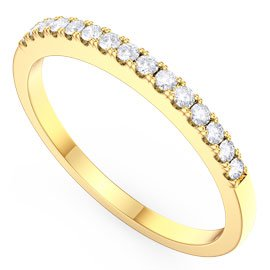 Promise White Sapphire 18ct Yellow Gold Half Eternity Ring