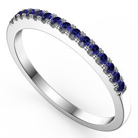 Promise Sapphire 18ct White Gold Half Eternity Ring