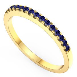 Promise Sapphire 18ct Yellow Gold Half Eternity Ring
