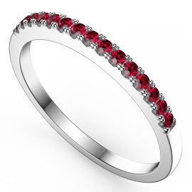 Promise Ruby 18ct White Gold Half Eternity Ring