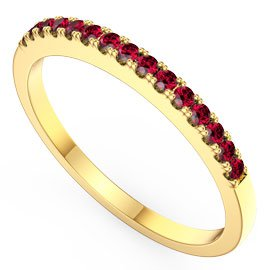 Promise Ruby 18ct Yellow Gold Half Eternity Ring