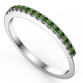 Promise Emerald 18ct White Gold Half Eternity Ring