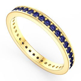 Promise Sapphire 18ct Yellow Gold Channel Full Eternity Ring
