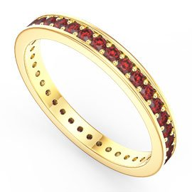 Promise Ruby 18ct Yellow Gold Channel Full Eternity Ring