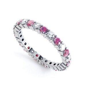 Promise Ruby 18ct White Gold Full Eternity Ring 2.5mm Band